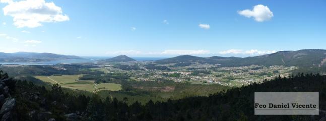 Valle del Rosal, desembocadura del Miño