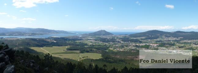 Valle de O Rosal desde mirador del Niño do Corvo.