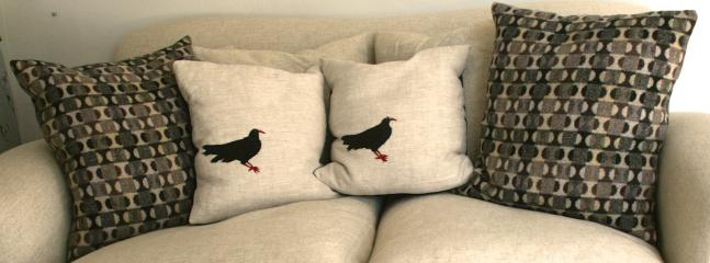 Settle back into the hand-made cushions...