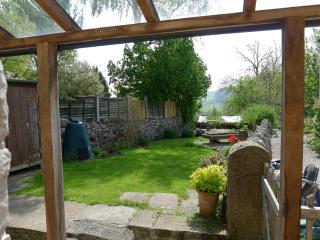 View down the garden