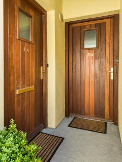 Each apartment has its own private entrance.