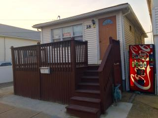 2Br boardwalk view front porch, Seaside Heights