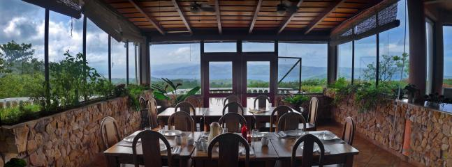 Dining over the Lake for two to 24 people.