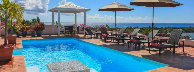 SPECIAL OFFER: St. Martin Villa 252 Lying On The Ridge Of A Gentle Hill, Surrounded By Tropical Gardens And Allowing Spectacular Views South West Over The Caribbean Sea., Terres-Basses