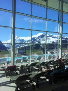 Great day out for all the family.  Fabulous indoor/outdoor thermal spa in Kaprun