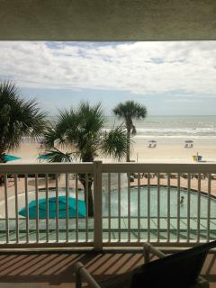 View from inside the room (Right above the Kiddie Pool)