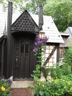 One of the many Gothic doors you will see as you walk thru the little English village.