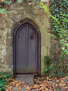 Another Gothic door you will see while walking through the little English village.