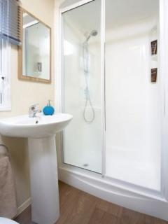 Bathroom with large Power shower