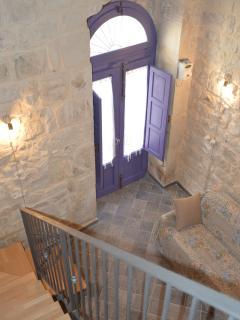 particolare delle pareti in pietra