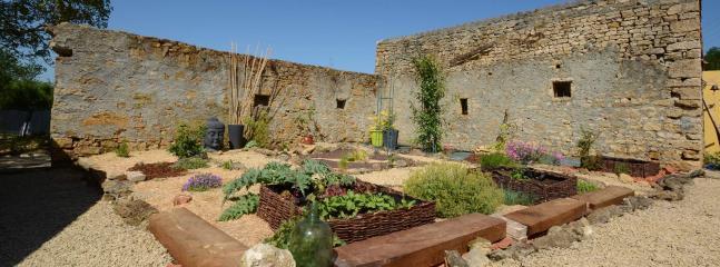 Le jardin japonais et le potager en carré