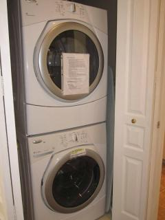Washer - dryer in the condo. Detergent provided.