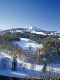 Eildon Hills in the Central Borders