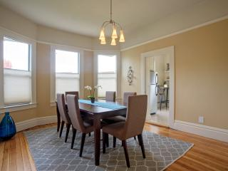 Dining room with beautiful built-in cabinetry.