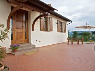 Bella staccata cottage con vista di San Gimignano