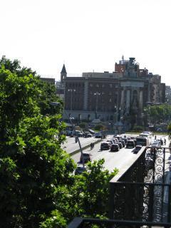 Vista de Balcones y Plaza España Fira
