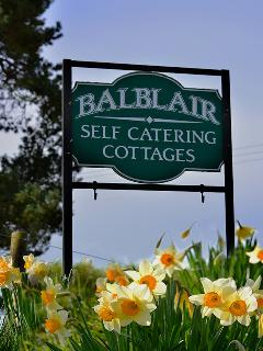 Balblair Cottages - sign