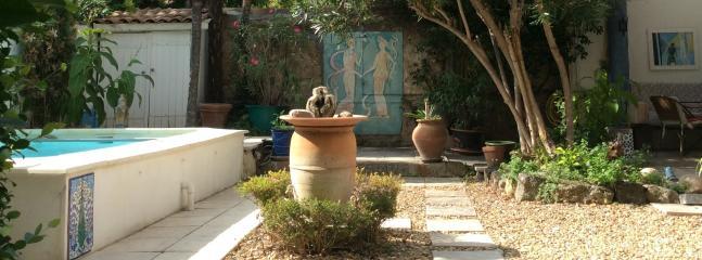 The courtyard patio
