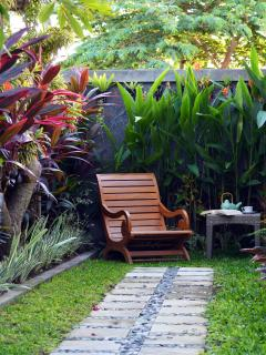 relax in the tropical garden
