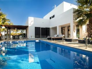 Modern villa with pool on Ibiza's west coast.