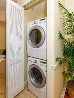 Washer and dryer included with Efficiency and Fully Appointed Suite