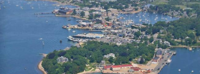 Aerial view of Woods Hole.