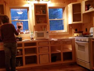 Full kitchen with all appliances, utensils etc.