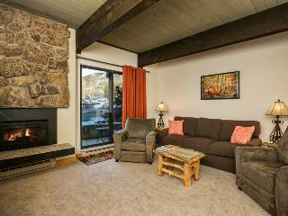 Storm Meadows: Club A, unit 212: Living Room with gorgeous gas log fireplace