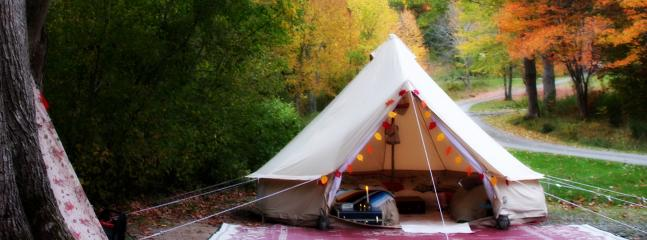 East Coast Glamping on Cape Breton Island in the Fall. Whycocomagh Provincial Park.