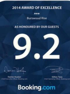 2014 Certificate of Excellence and highly rated by our Guests