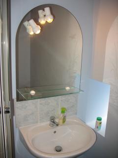 Washbasin in bathroom