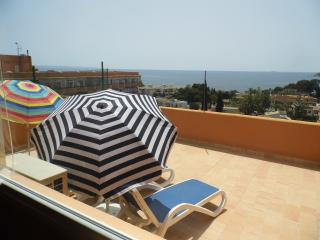 Sea views, 120m2 terrace, air con, double glazing, Palmanova
