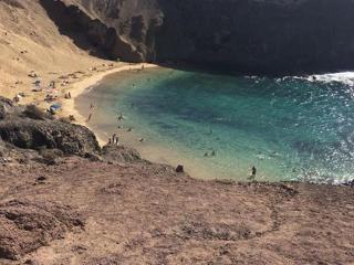 Papagayo Beach, one of Playa Blanca's many beaches.