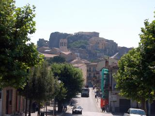 View of the Castle from downtown Calitri. Our home in the medieval center is just behind the castle.
