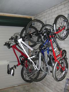 The integral garage - plenty of room to store bikes and kayaks etc.
