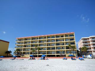 Las Brisas 202 - Gulf Front Three Bedroom, Two Bath Condo with Pool and BBQ!, Madeira Beach