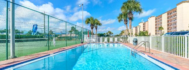 swimming pool and tennis courts