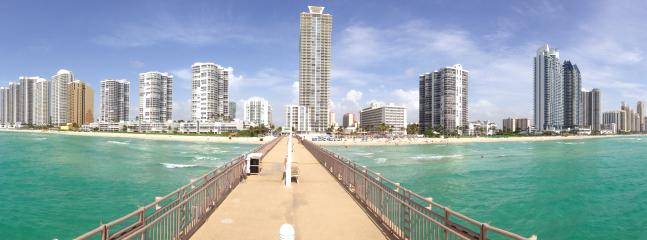Sunny Isles Beach, Florida - Fishing pier, restaurant and beach service.