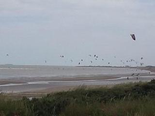 kite surfers come out when the wind is right