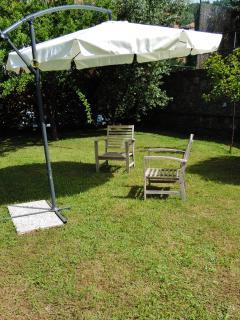 Zona relax in giardino.