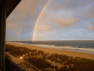 A beautiful double rainbow caught on camera over the ocean!