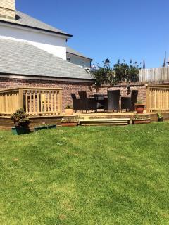 Large back garden