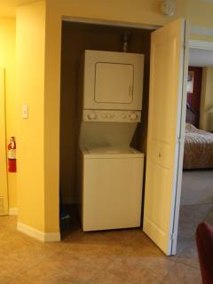 Inside washer/dryer in each suite