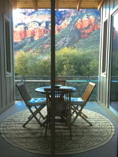 view forom outdoor dining area
