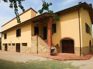 The villa offers a kitchen, living and dining area, three queen sized rooms and