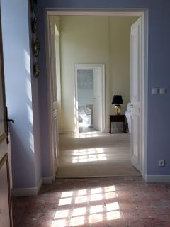 Looking through open doors from entrance.