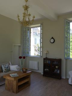 Salon. Four metre high ceilings and double-aspect windows.