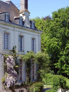 View of Château from window.
