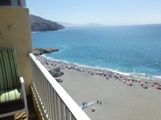 App. Elomar Vista Mar, primera linea de la Playa,, Almuñécar