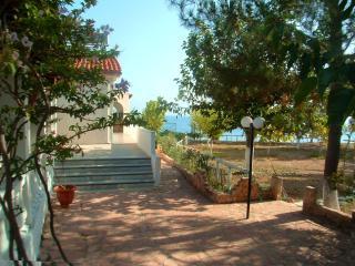 Apartments on the sandy beach on Corfu island, Lefkimi